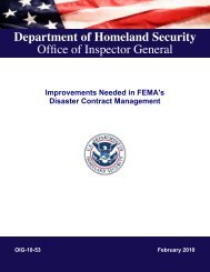 Improvements Needed in FEMA's Disaster Contract Management