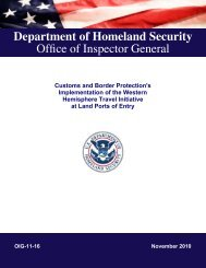 Customs and Border Protection Implementation of the Western ...