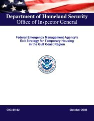 FEMA's Exit Strategy for Transitional Housing in the Gulf Coast Region