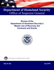 Review of the Department of Homeland Security's Master List of ...