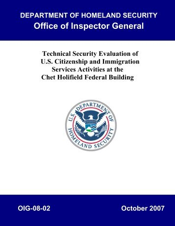 Technical Security Evaluation of U.S. Citizenship and Immigration ...