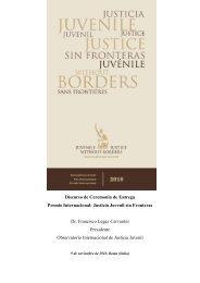 Discurso de Ceremonia de Entrega Premio Internacional: Justicia ...
