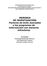 Factores de éxito asociados a los programas de intervención con ...