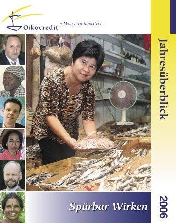 Internationaler Jahresbericht 2006 - Oikocredit