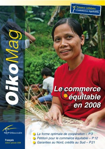 Le commerce équitable en 2008 - Oikocredit