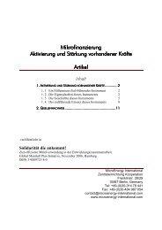 Mikrofinanzierung - Aktivierung und Stärkung ... - Oikocredit