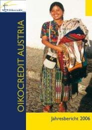 Jahresbericht 2006 - Oikocredit