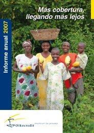 Lea el Informe Anual 2007 de Oikocredit completo