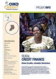 Kleine Kredite, schnelles Wachstum - Oikocredit