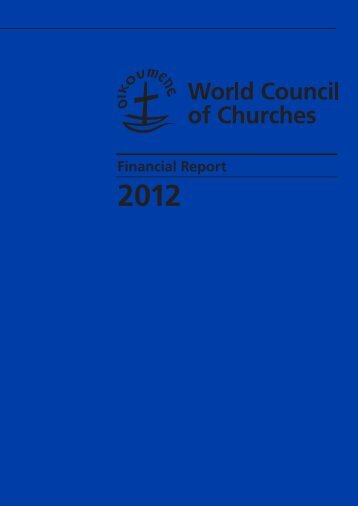 Financial Report - World Council of Churches