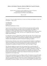 Bishop Munib MECC Speech.pdf - World Council of Churches