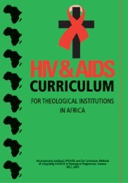 HIV and AIDS Curriculum for Theological Institutions in Africa
