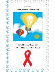 Youth manual on anti-stigma messages - World Council of Churches