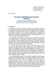 Response - World Council of Churches