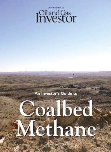 Download PDF Coalbed Methane 2006 - Oil and Gas Investor