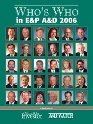 in E&P A&D 2006 - Oil and Gas Investor