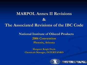 Ingen lysbildetittel - National Institute of Oilseed Products