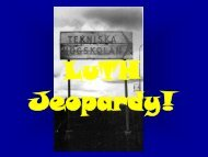 LuTH Jeopardy Del 2