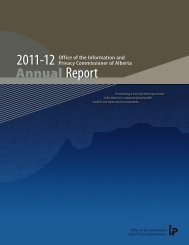 2011‑12 Report - Office of the Information and Privacy ...