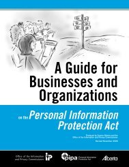 Personal Information Protection Act - Office of the Information and ...