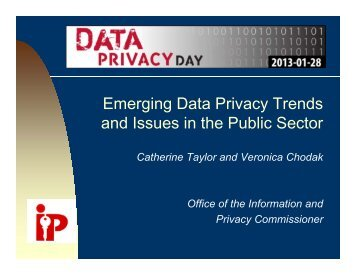 Emerging Data Privacy Trends and Issues in the Public Sector