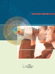 Rapport annuel 2008-2009 - Ordre des ingénieurs du Québec