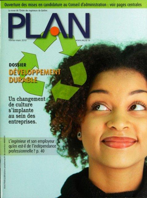 PLAN 2010-1 - Ordre des ingénieurs du Québec