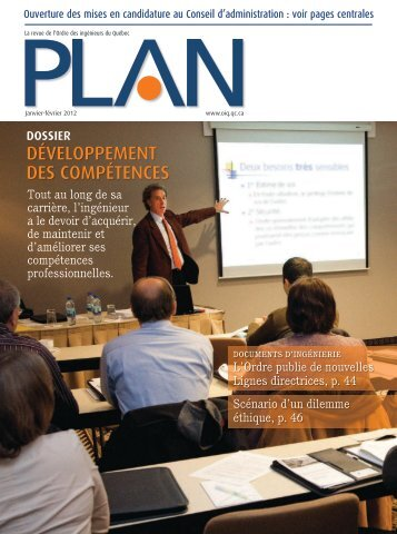 PLAN_Janvier-février_2012 - Ordre des ingénieurs du Québec