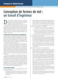 Conception de fermes de toit - Ordre des ingénieurs du Québec