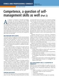 Competence, a question of self- management skills as well (Part 2)