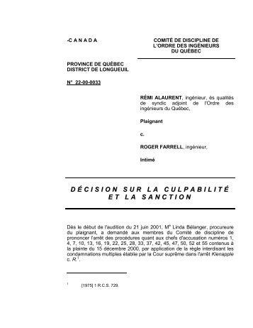 canada - Ordre des ingénieurs du Québec