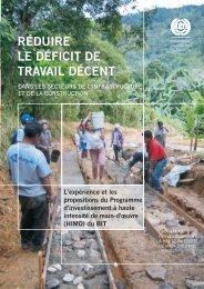 réduire le déficit de travail décent - International Labour Organization