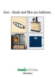 Esse - Herde und Öfen aus Gußeisen. - Manufactum