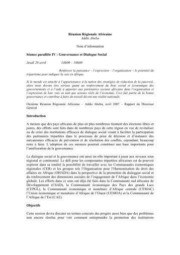 gouvernance et dialogue social