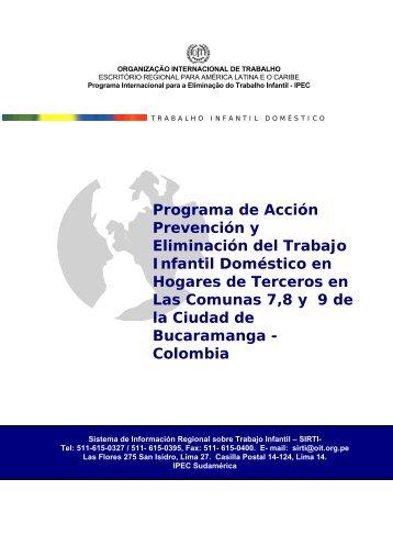 Programa de Acción Prevención y Eliminación del Trabajo Infantil ...
