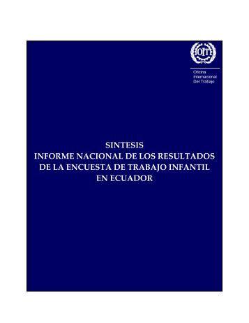 sintesis informe nacional de los resultados de la encuesta de ...