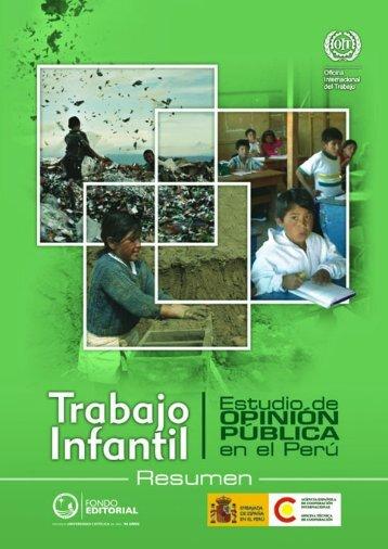 trabajo infantil estudio de opinión pública en el perú