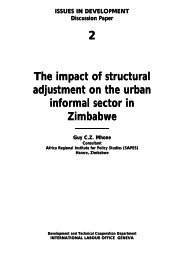 The impact of structural adjustment on the urban informal sector in ...