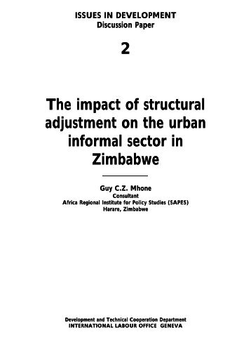 problems of informal sectors in urban Numbers into urban areas and thus increase the problems of the urban informal sector resulting in poverty, crime, homelessness, poor health, prostitution, and .