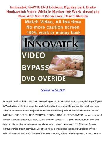 Innovatek dvd 393 dvd soitin kyttopas ipcmax innovatek in 431b dvd lockout bypasspark brake dlpdfs swarovskicordoba Images