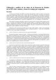 Utilización y análisis de los datos de la Encuesta de Octubre de la ...