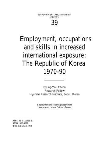 The Republic of Korea 1970-90 - International Labour Organization
