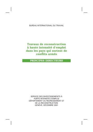 Travaux de reconstruction à haute intensité d'emploi - International ...