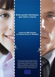 1 - Break gender stereotypes, give talent a chance!
