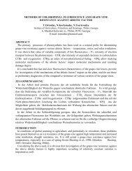 Methods of chlorophyll fluorescence and grape-vine ... - Oiv2010.ge