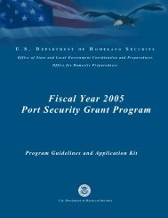 Fiscal Year 2005 Port Security Grant Program - Federal Emergency ...
