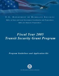 Fiscal Year 2005 Transit Security Grant Program - Federal ...