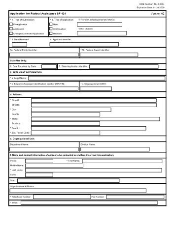 SF-424 HPRP Form - NYC.gov