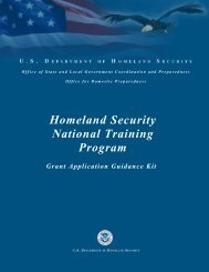 Homeland Security National Training Program - Office of Justice ...