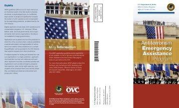 Antiterrorism Emergency Assistance Program brochure